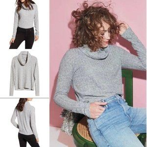 BP Slouchy Comfy Grey Ribbed Sweater M
